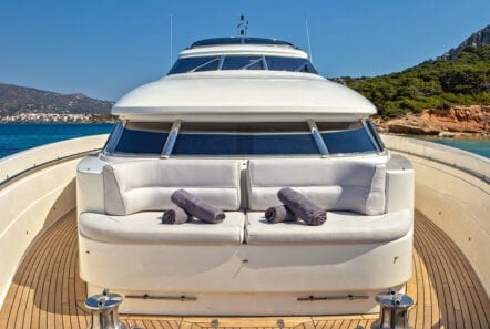 divine motor yacht fore seating - Valef Yachts Chartering