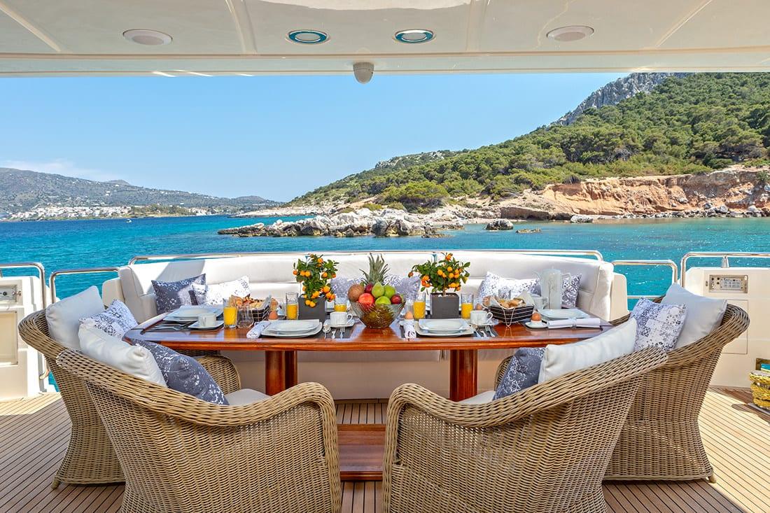 divine motor yacht main deck - Valef Yachts Chartering