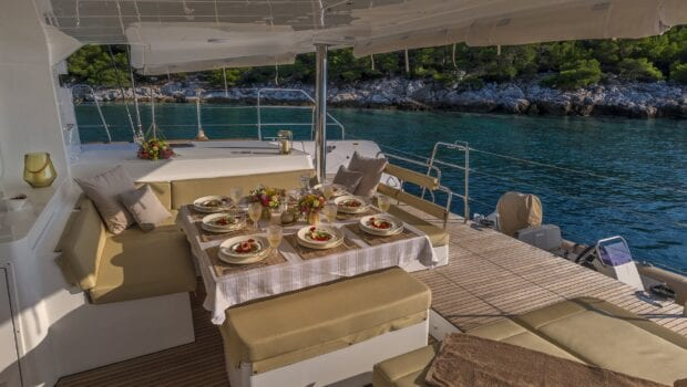 flo catamaran exterior spaces (25) - Valef Yachts Chartering