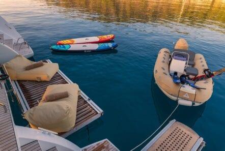 flo catamaran sea toys - Valef Yachts Chartering