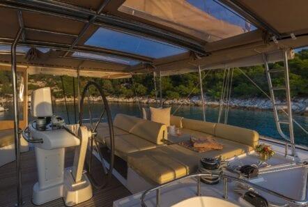 flo catamaran upper deck (1) - Valef Yachts Chartering