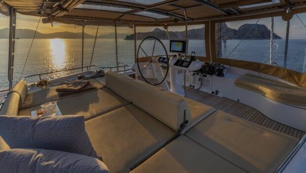 flo catamaran upper deck (2) - Valef Yachts Chartering