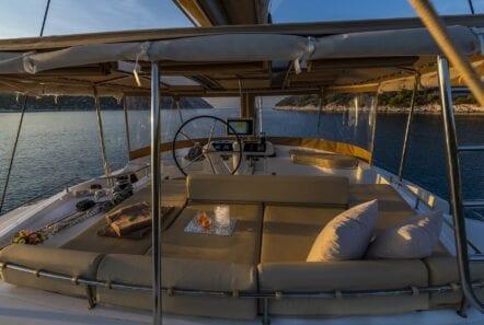 flo catamaran upper deck (3) - Valef Yachts Chartering