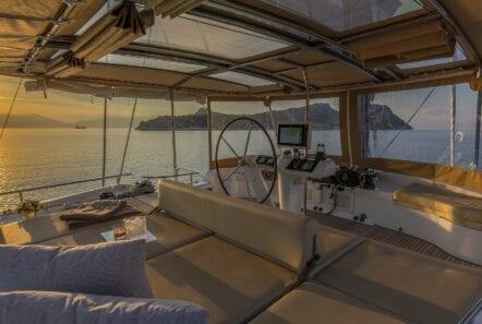 flo catamaran upper deck (4) - Valef Yachts Chartering