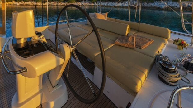 flo catamaran upper deck (6) - Valef Yachts Chartering