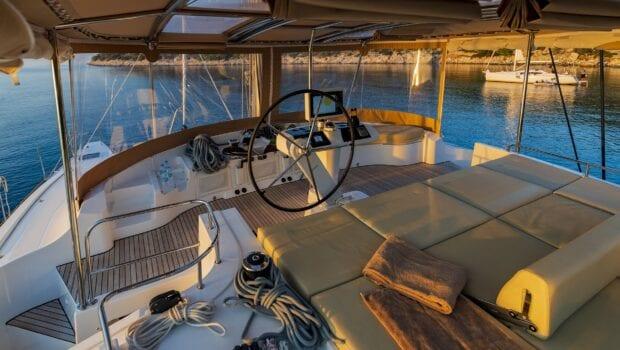 flo catamaran upper view - Valef Yachts Chartering