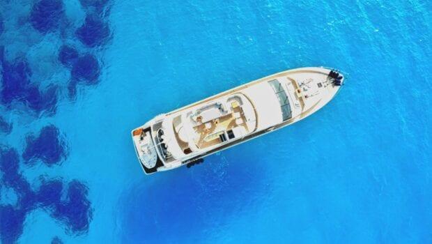 gia sena motor yacht aerial - Valef Yachts Chartering