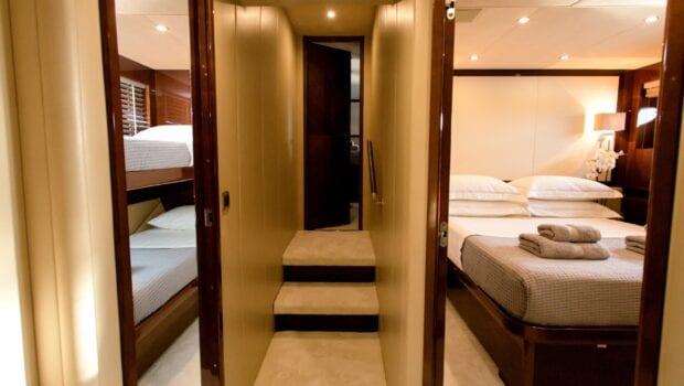 gia sena motor yacht hallway - Valef Yachts Chartering