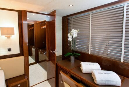 gia sena motor yacht master closet - Valef Yachts Chartering