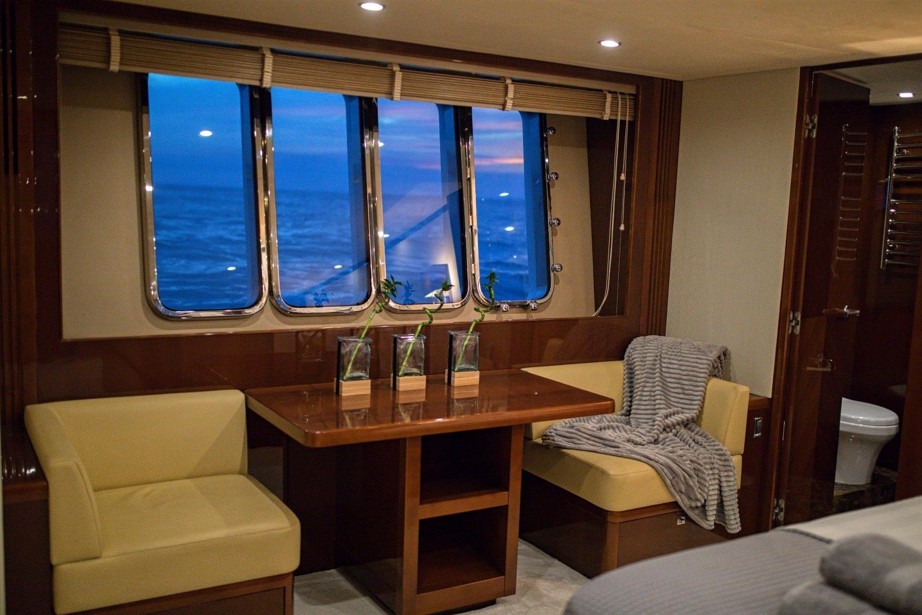 gia sena motor yacht master suite (2) - Valef Yachts Chartering