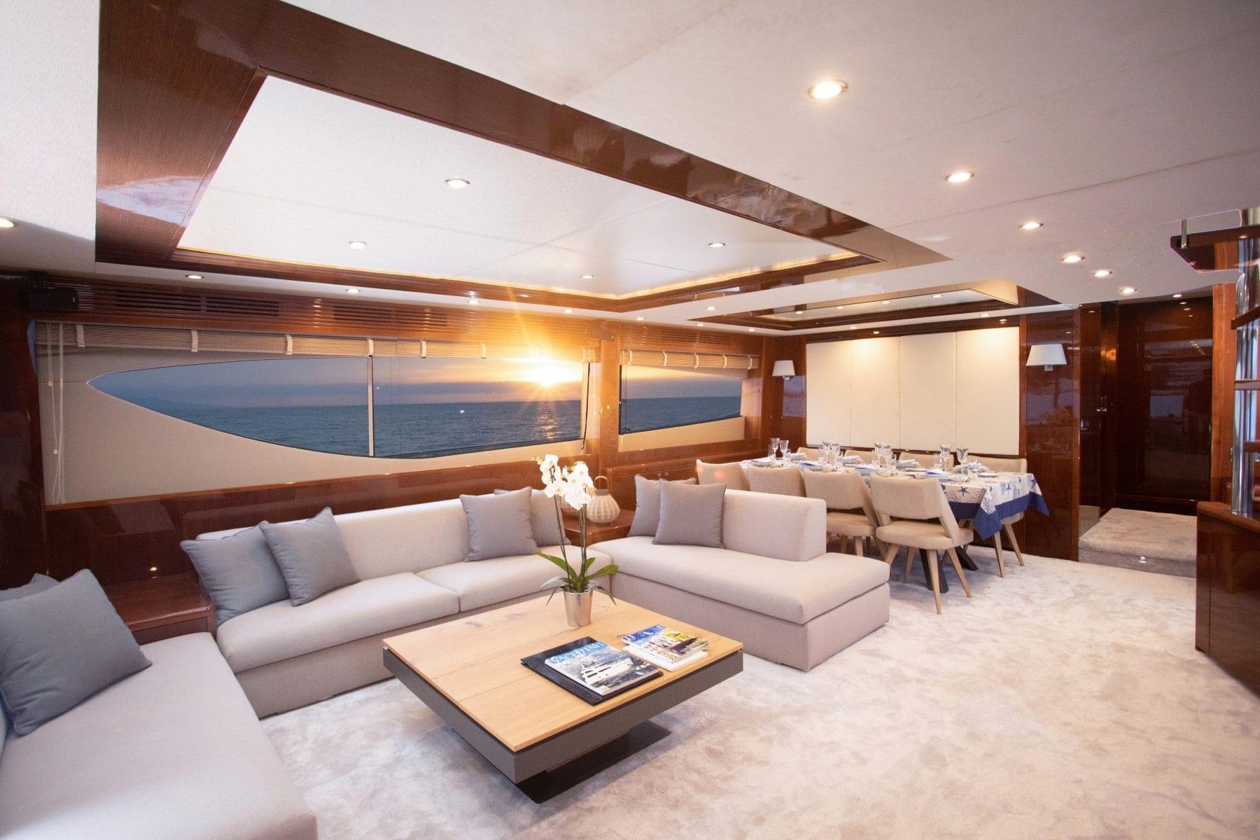 gia sena motor yacht salon (1) - Valef Yachts Chartering