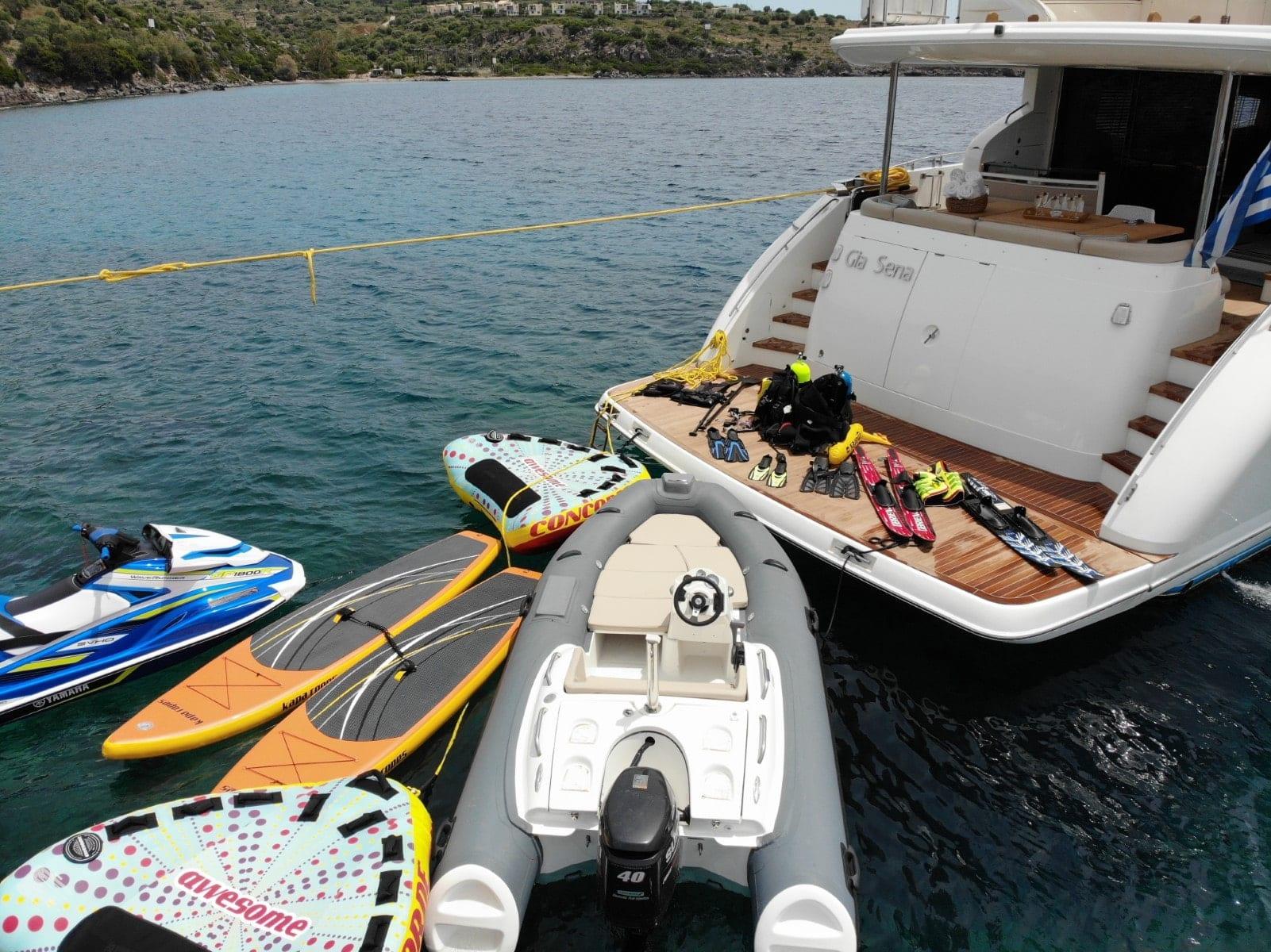 gia sena motor yacht water toys - Valef Yachts Chartering