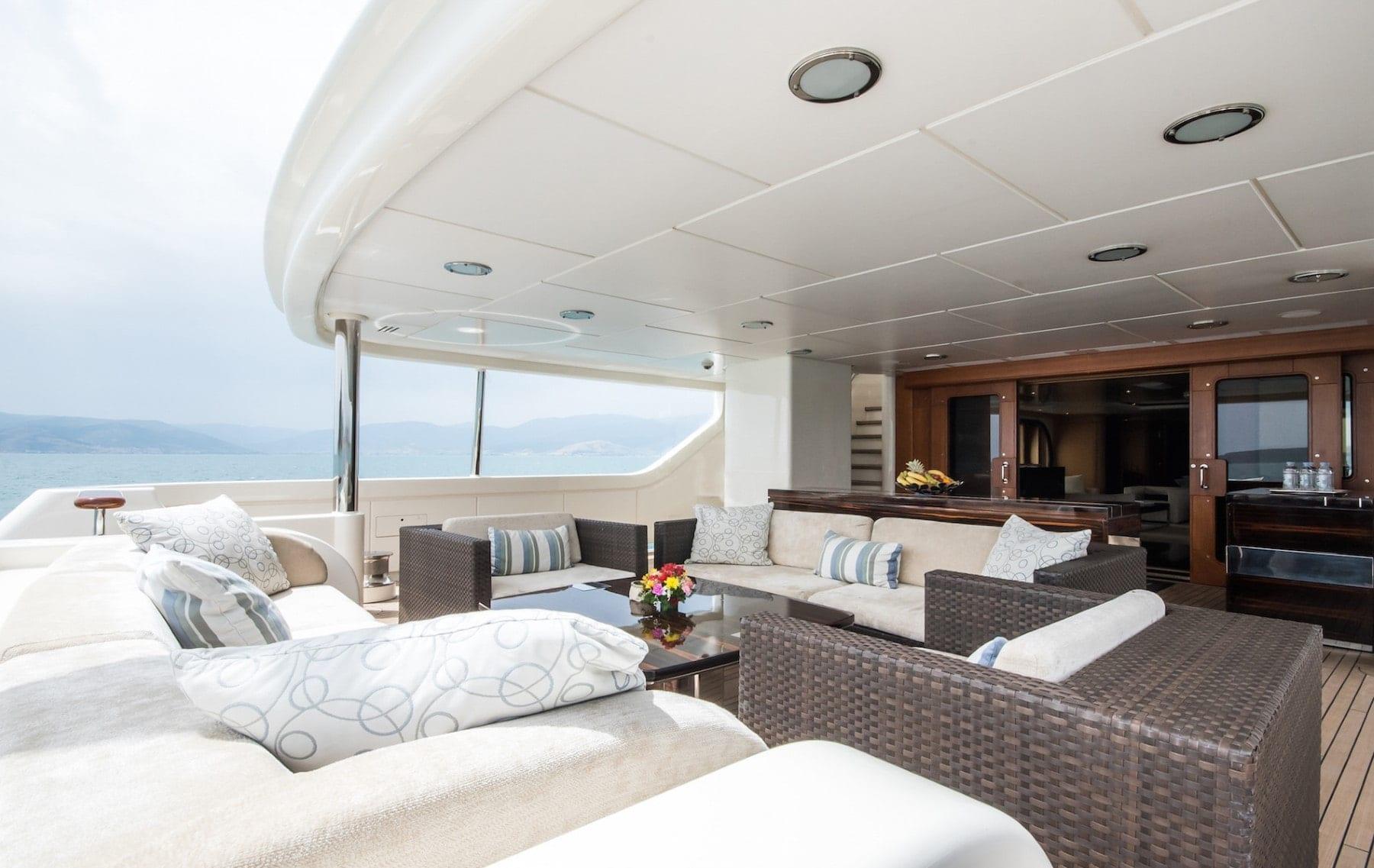 mercury megayacht aft deck (1) - Valef Yachts Chartering