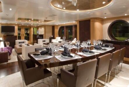 mercury megayacht dining (1) - Valef Yachts Chartering