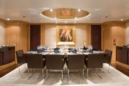 mercury megayacht dining (2) - Valef Yachts Chartering