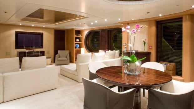 mercury megayacht luxurious salon (2) - Valef Yachts Chartering
