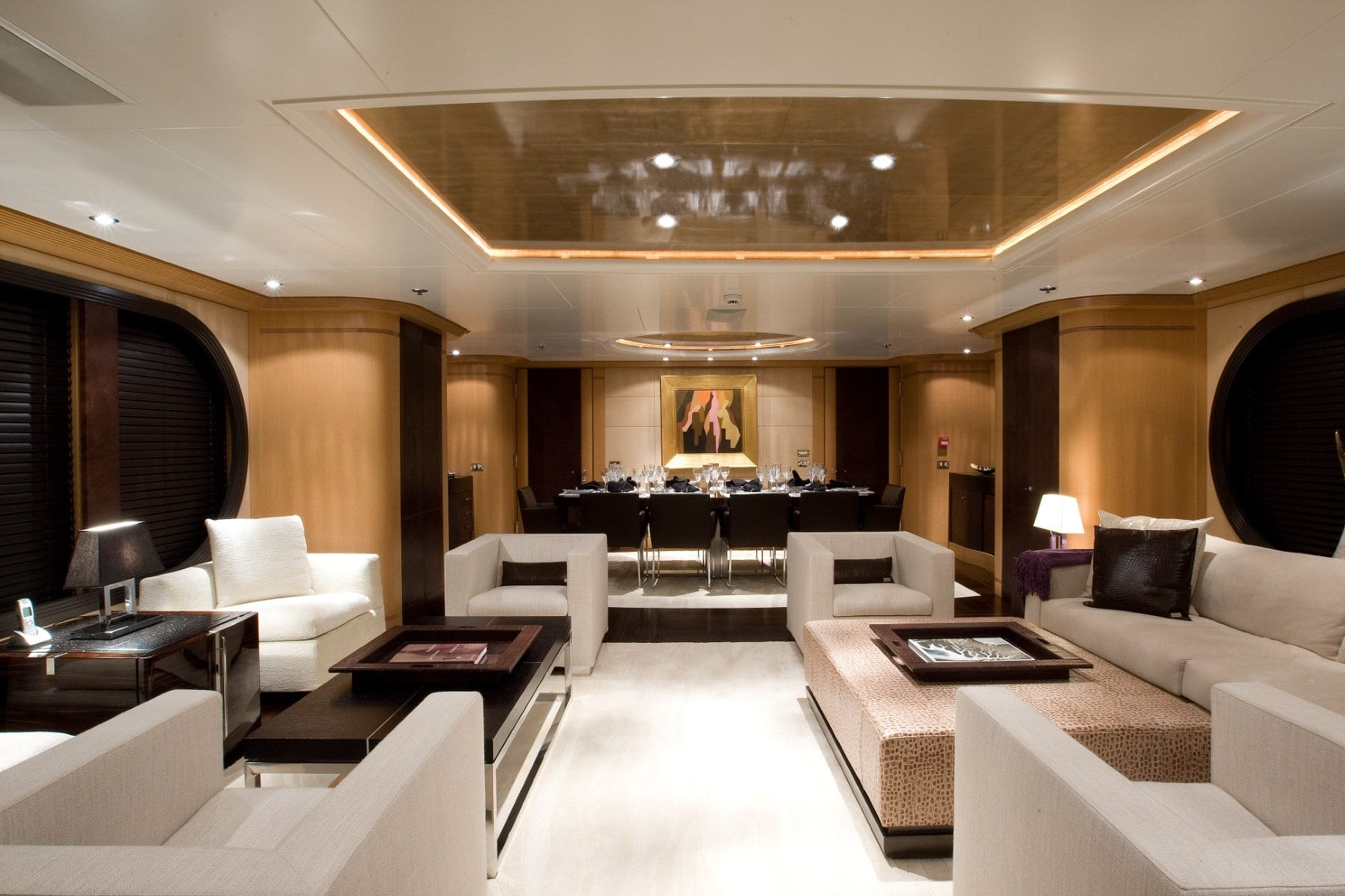 mercury megayacht luxurious salon (4) - Valef Yachts Chartering