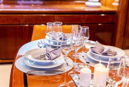 pareaki motor yacht dining (2) (Custom) min - Valef Yachts Chartering