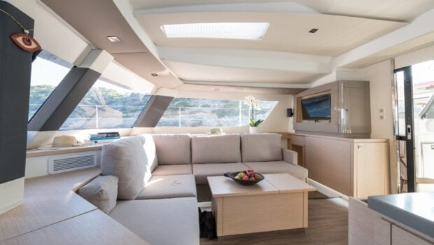 pi2 catamaran salon (6)  - Valef Yachts Chartering