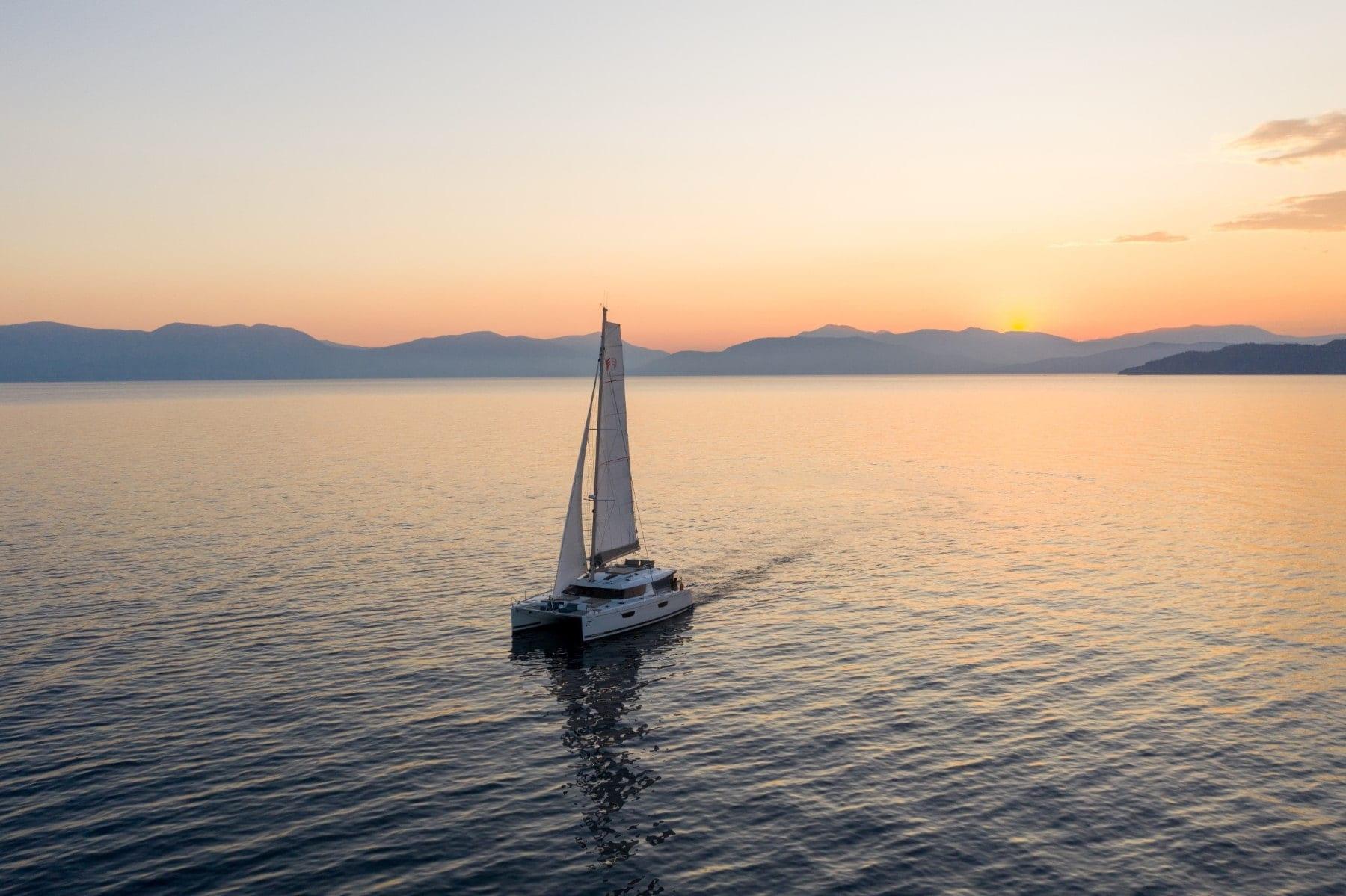 pi2 catamaran sunset (1)  - Valef Yachts Chartering