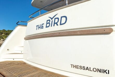 the bird motor yacht aft deck (2) - Valef Yachts Chartering
