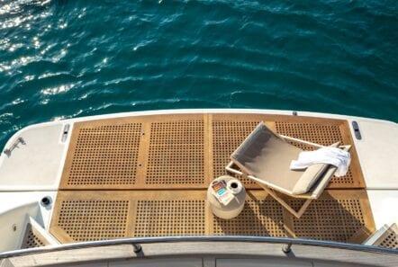 the bird motor yacht aft deck (3) - Valef Yachts Chartering