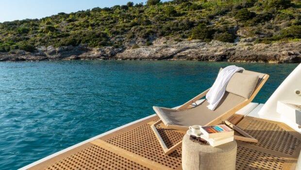 the bird motor yacht aft deck (5) min - Valef Yachts Chartering