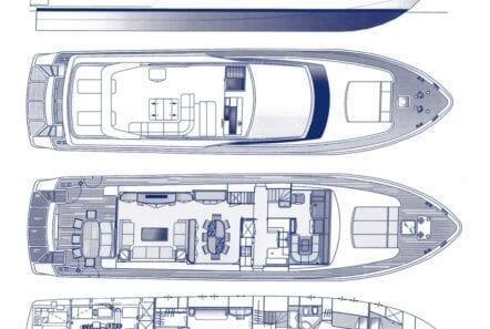 the bird motor yacht layout min - Valef Yachts Chartering