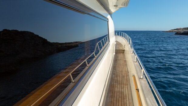 the bird motor yacht side - Valef Yachts Chartering