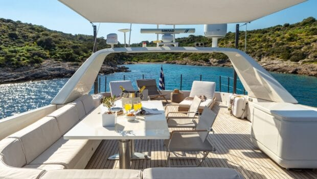 the bird motor yacht sundeck (5) min - Valef Yachts Chartering