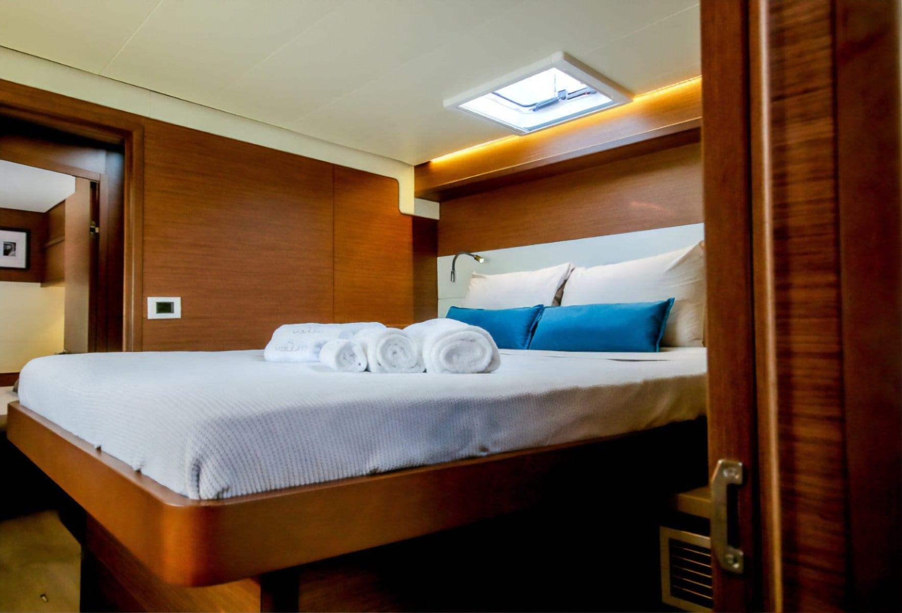 valium 52 catamaran cabin1 - Valef Yachts Chartering