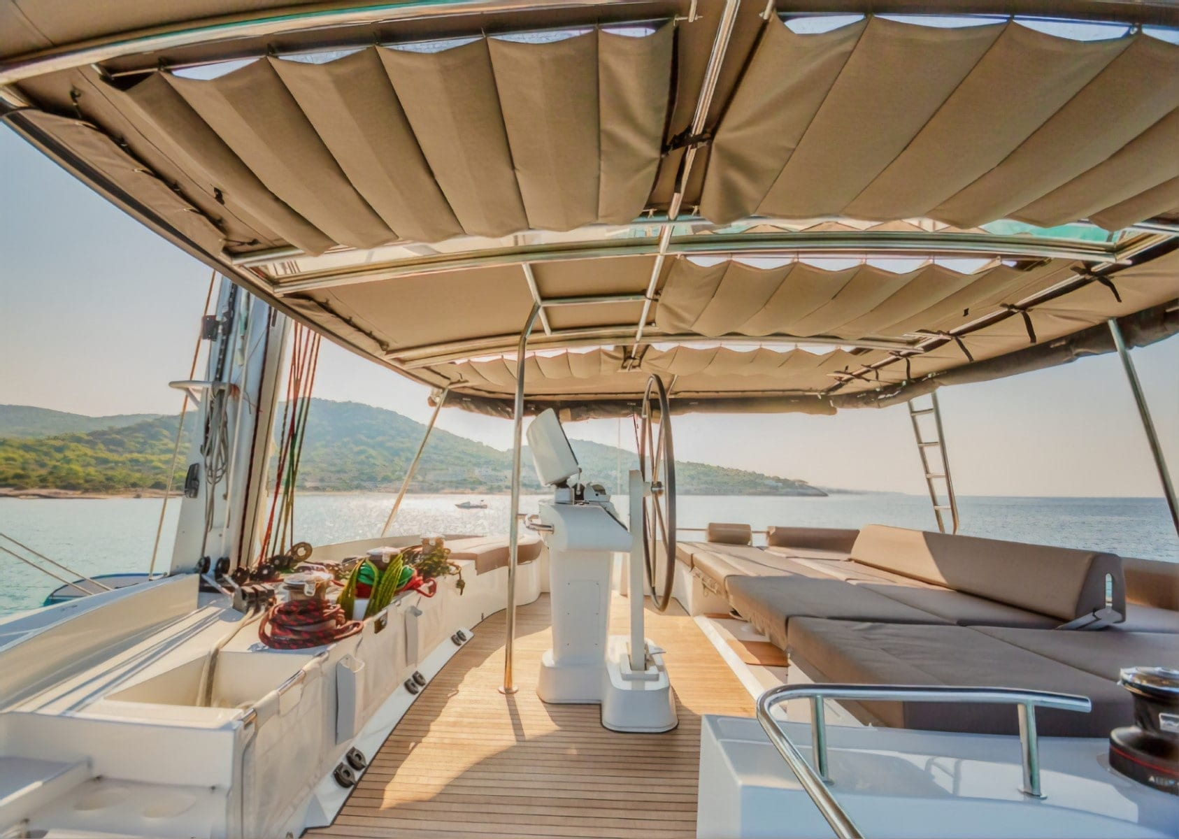 valium 52 catamaran lounge1 - Valef Yachts Chartering