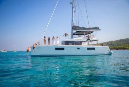 valium 52 catamaran main profile - Valef Yachts Chartering