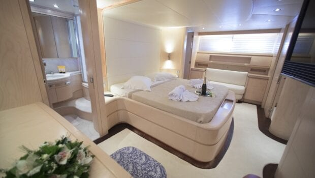 princess l motor yacht master suite view min - Valef Yachts Chartering