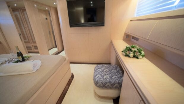 princess l motor yacht master suite1 min - Valef Yachts Chartering