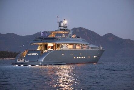 princess l motor yacht night min - Valef Yachts Chartering