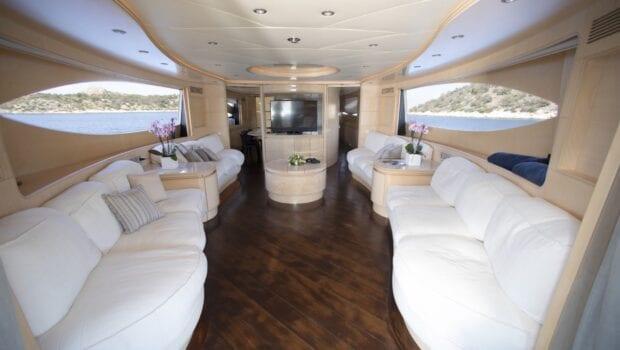 princess l motor yacht salon min - Valef Yachts Chartering