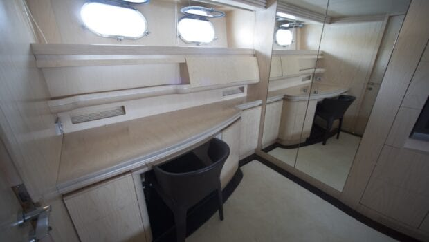 princess l motor yacht vip Lower Deck Office min - Valef Yachts Chartering