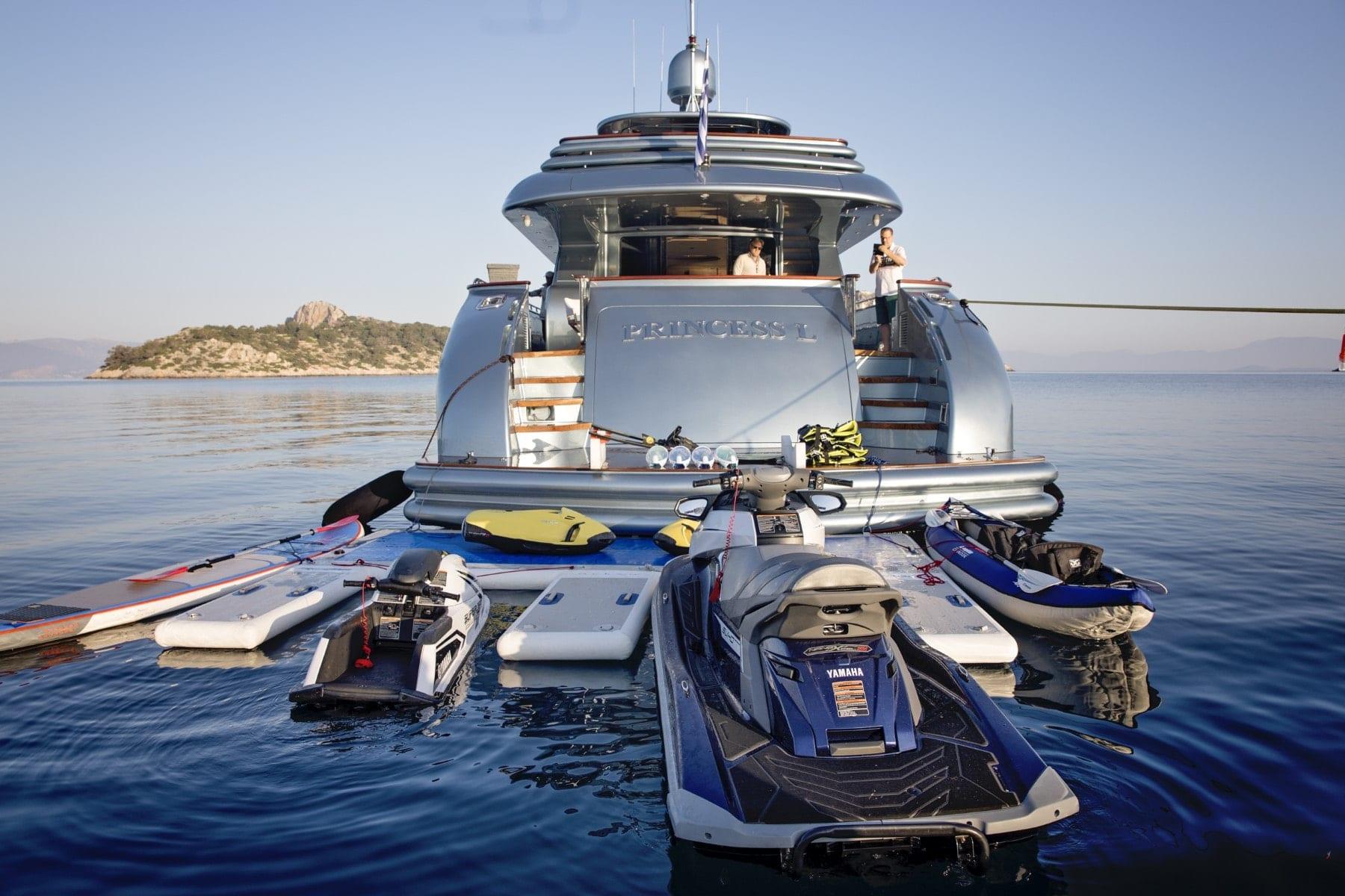 princess l motor yacht water toys (2) min - Valef Yachts Chartering