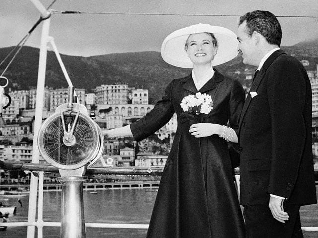 Grace Kelly and Prince Rainier in Monaco min - Valef Yachts Chartering