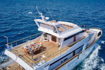 wide liberty motor yacht cruising (2) min - Valef Yachts Chartering
