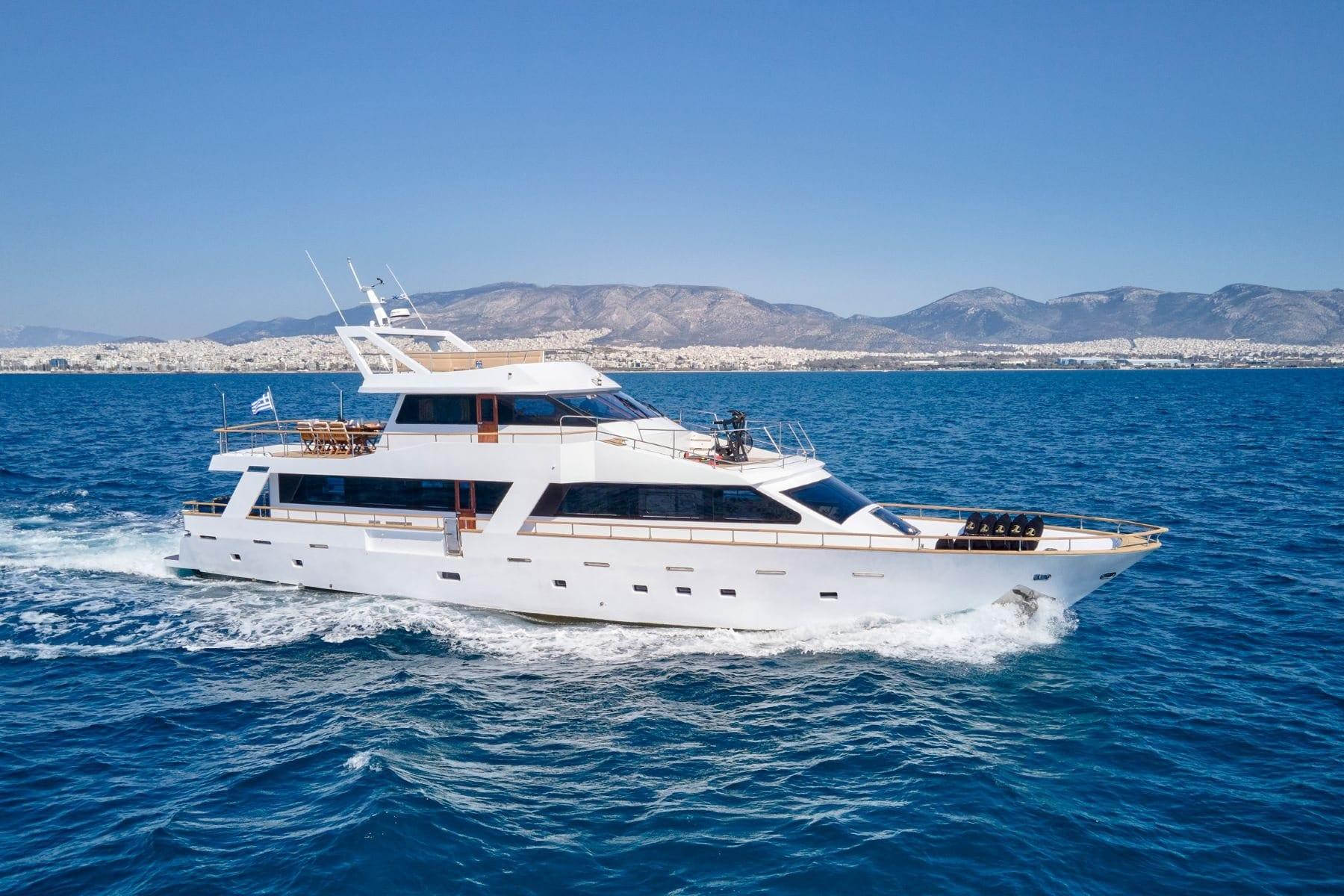 wide liberty motor yacht cruising (3) min - Valef Yachts Chartering